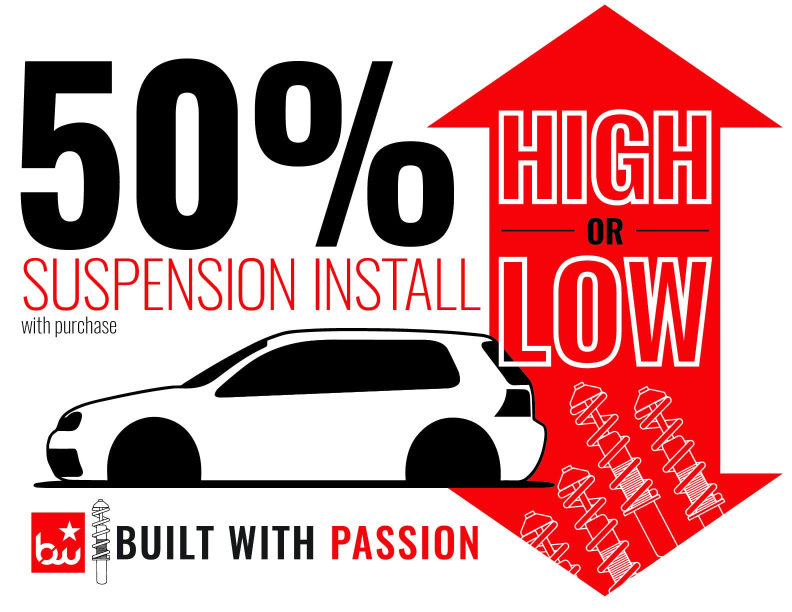 50% Off Suspension Install with Purchase