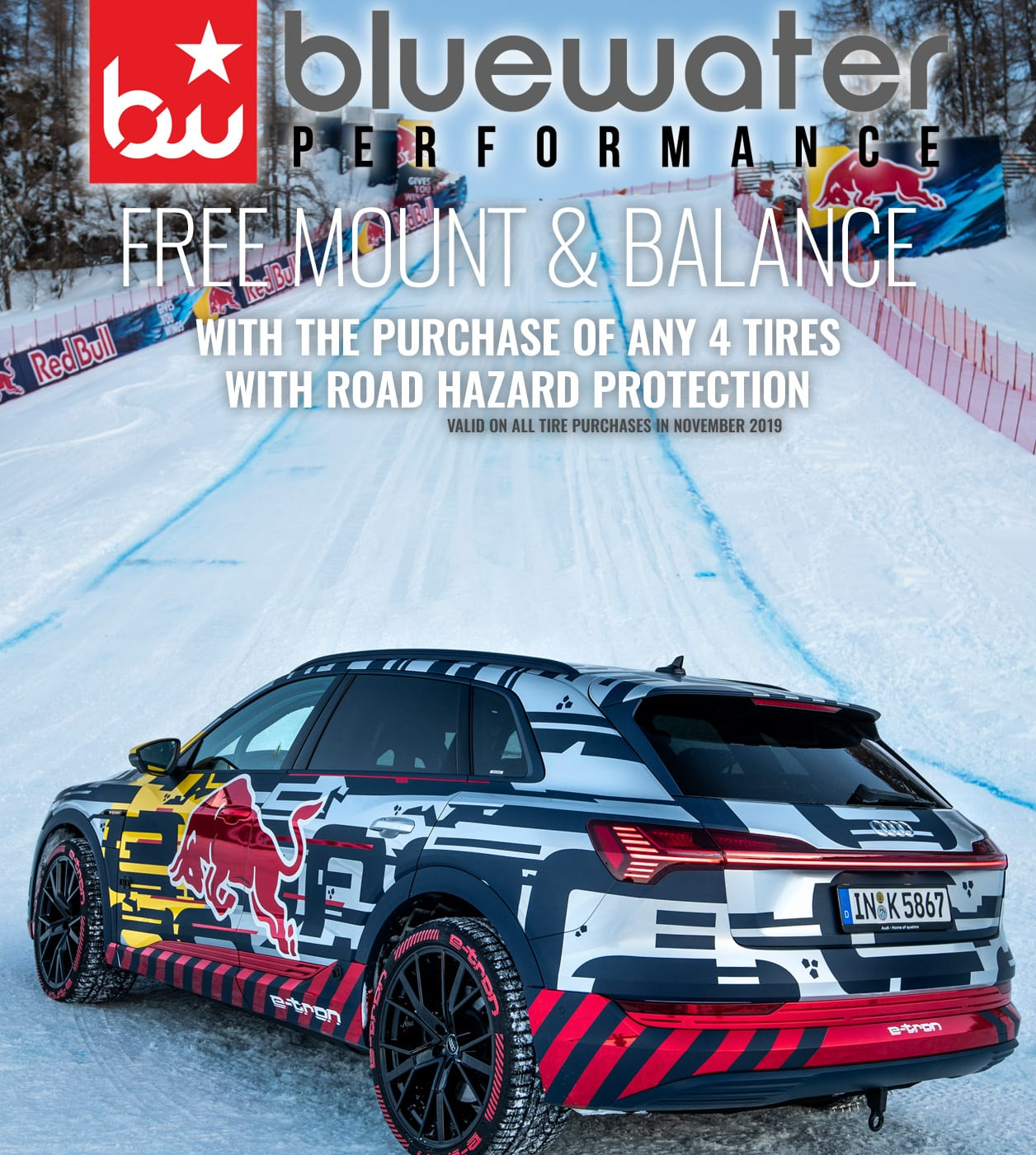 FREE Mount & Balance with Purchase of Any 4 Tires with Road Hazard Protection